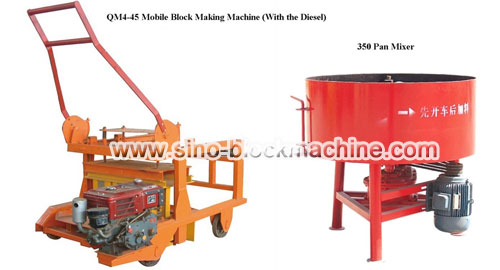 QM4-45 Mobile Block Making Machine