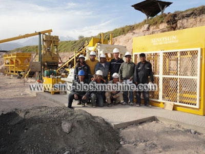 concrete block making machine in Peru